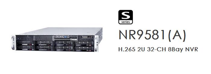 NR9581(A): H.265 2U 32-CH 8Bay NVR