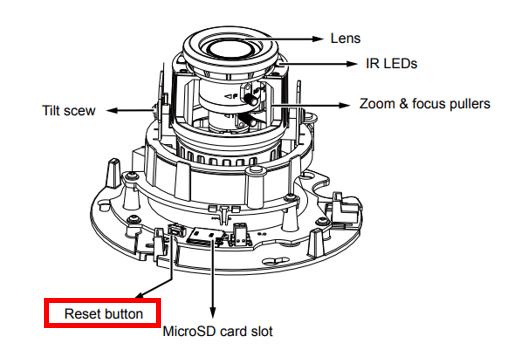 Cach reset password camera dome 1